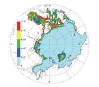 плотность бароклинной приливной энергии в СЛО