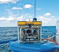 ГНОМ ПРО (глубина работы до 300 м) оснащен гидролокатором кругового обзора и цифровой камерой