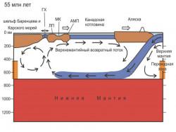 Геодинамическая модель эволюции Арктики