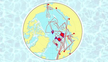 Маршруты экспедицийЛаборатории гидрологических процессов в Арктике